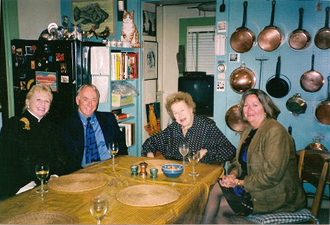 L to R: Me, Robert Walker, Julia Child, and Eleanor Lum at Julia Child's Cambridge home (photo credit: Raymond Lum)
