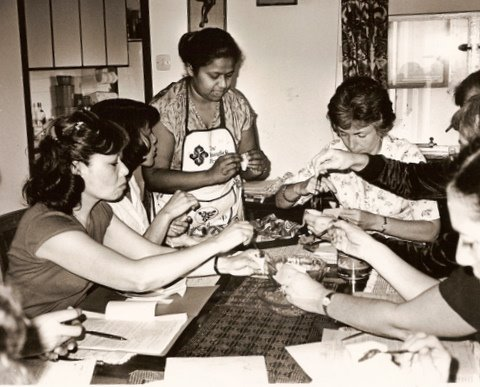 Indra Jayasekera teach how to make samosas in HK 4/4/82