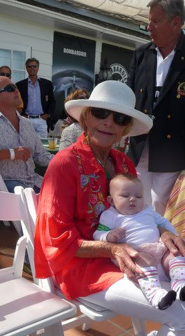 Missy de Young and grandchild