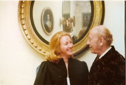Baron Philippe de Rothschild and me at a party in Montecito 1978