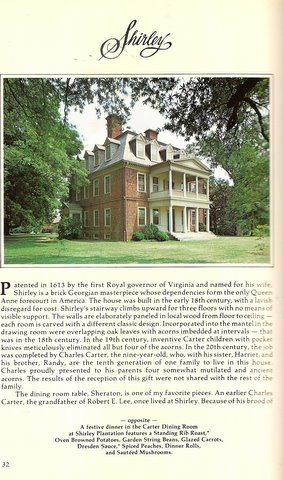 James River Plantations Cookbook
