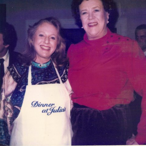 Beverley Jackson and Julia Child