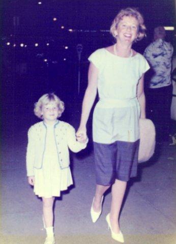 Beverley & Tracey Jackson. Hawaii 1963.
