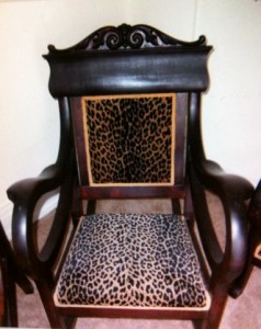 Leopard Victorian Chair