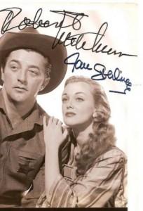 Bob Mitchum & Jan Sterling signed photo